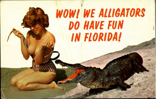 Fun In Florida!! Risque & Nude Alligators