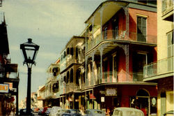 Saint Peter Street, New Orleans Postcard