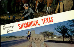 Greeting From Shamock, Texas Postcard