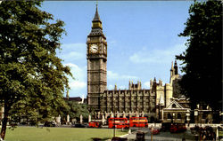 Big Ben, And Parliament Square Postcard
