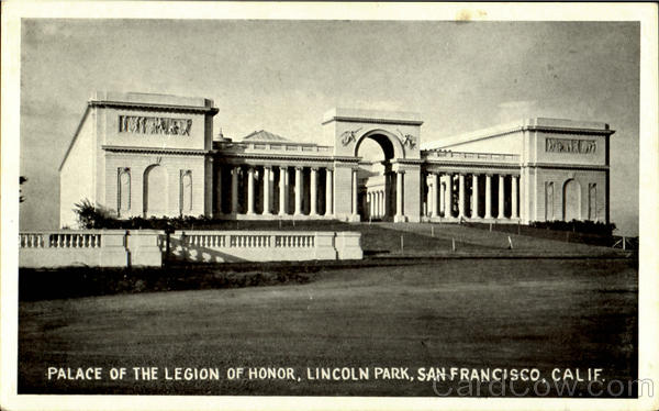 Place Of The Legion Of Honor, Lincoln Park San Francisco California