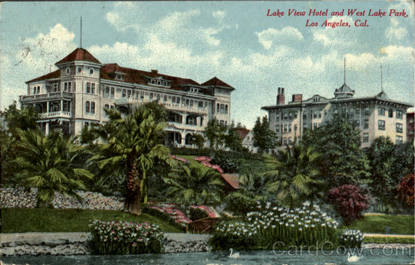 Lake View Hotel And West Lake Park Los Angeles California