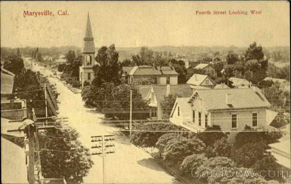 Fourth Street Looking West Marysville California