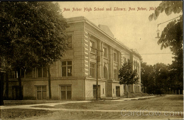 Ann Arbor High School And Library Michigan