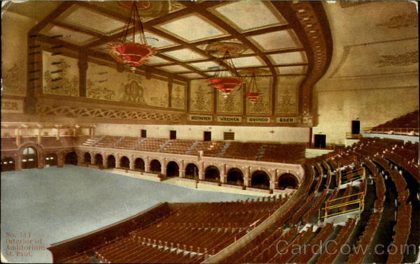 Interior Of Auditorium St. Paul Minnesota
