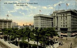 Plaza Park, Showing U.S. Grant Hotel