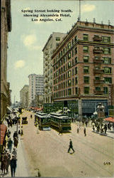 Spring Street Looking South, Showing Alexandria Hotel