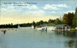 East Lake, Showing Boat And Bath Houses
