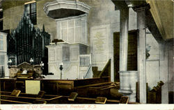 Interior Of Old Tennant Church Postcard