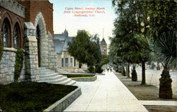 Cajon Street, Looking North From Congregational Church