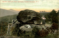 Boulder Rock And Hotel Kaaterskill