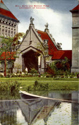 Hull Gate And Botany Pond, University Of Chicago Postcard