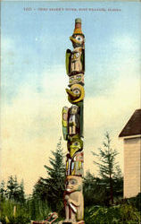 Chief Shake'S Totem Postcard