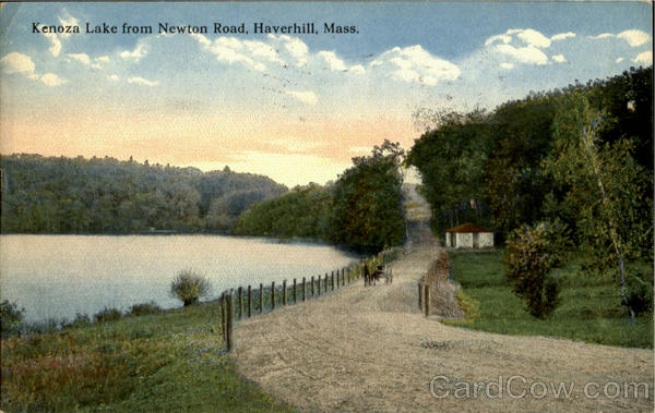 Kenoza Lake From Newton Road Haverhill Massachusetts