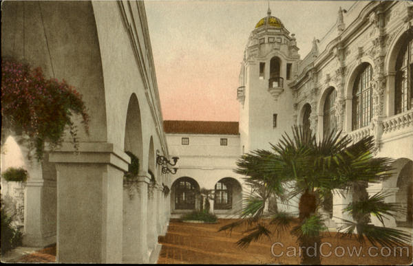 Arches And Court,Southern Counties Building San Diego California