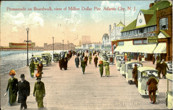 Promenade On Boardwalk Atlantic City New Jersey