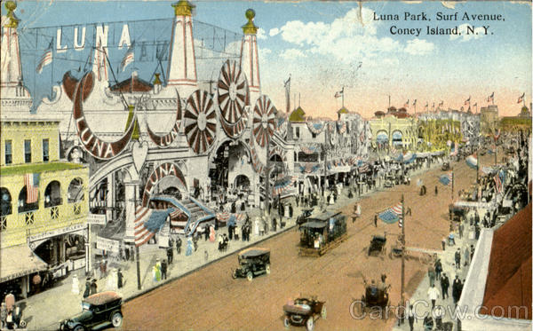 Luna Park, Surf Avenue Coney Island New York Amusement Parks