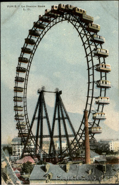 LA GRANDE ROUR Ferris Wheel Paris France Amusement Parks