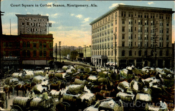 Court Square In Cotton Season Montgomery Alabama