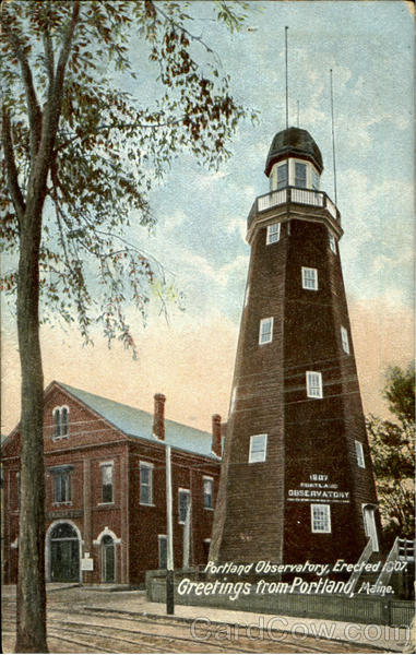Portland Observatory, Erected 1907 Maine