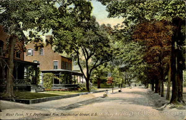 Professors Row, Residential Street,U.S. West Point New York