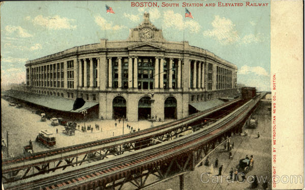 South Sation And Elevated Railway Boston Massachusetts