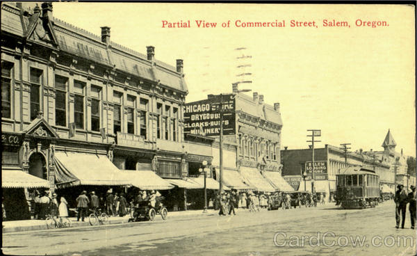 Partial View Of Commercial Street Salem Oregon