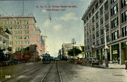 D.St U.S. GRANT HOTEL ON LEFT