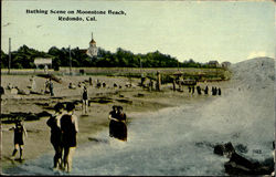 Bathing Scene On Moonstone Beach