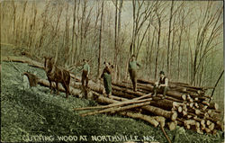 Cutting Wood At Northville, N. Y.
