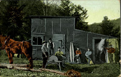 Lumber Camp At Northville, N. Y.