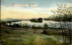 Blaine'S Island From Lock Six, Scene On Kanawha River