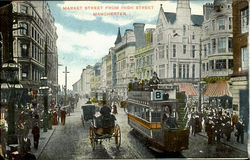 Market Street From High Street Postcard