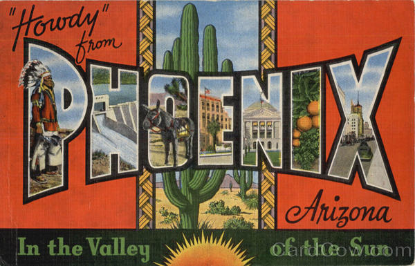 Howdy Greetings From Phoenix Large Letter Arizona