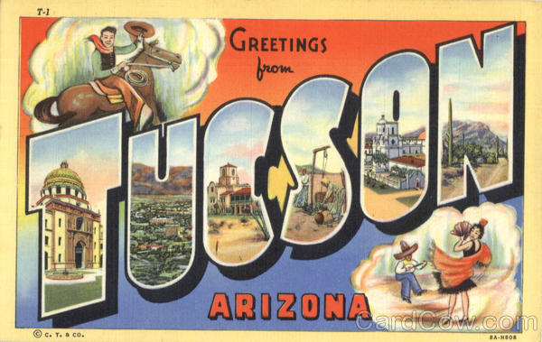 Greetings from Tucson Large Letter Arizona