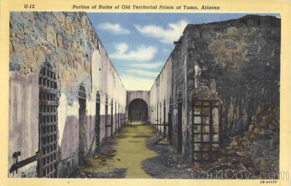 Portion of Ruins of Old Territorial Prison at Yuma Arizona