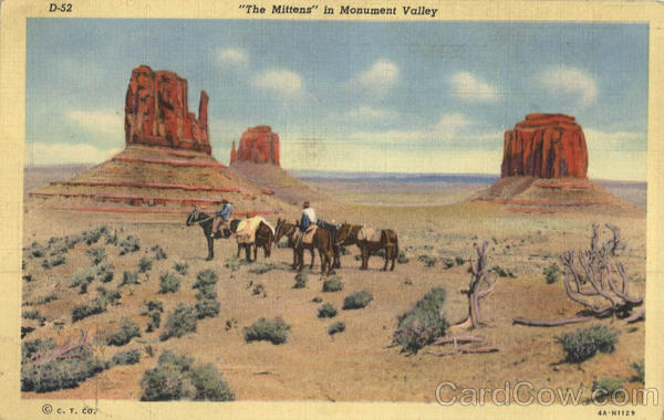 The Mittens in Monument Valley Scenic Arizona