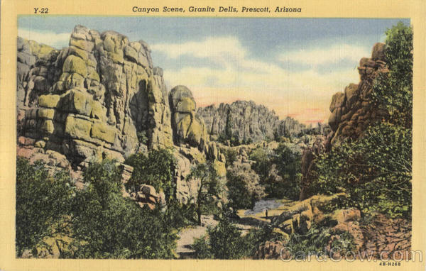 Canyon Scene, Granite Dells Prescott Arizona