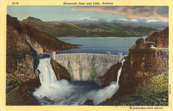 Roosevelt Dam and Lake Arizona