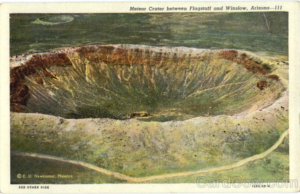Meteor Crater between Flagstaff and Winslow Arizona