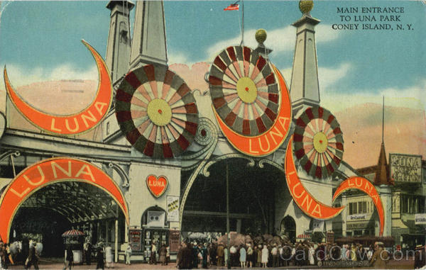 Main Entrance to Luna Park Coney Island New York