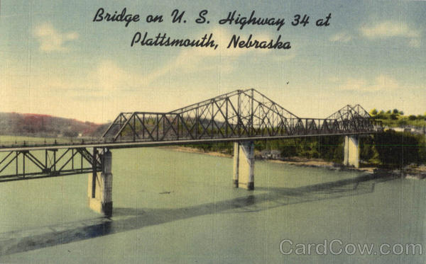 Bridge on U. S. Highway 34 Plattsmouth Nebraska