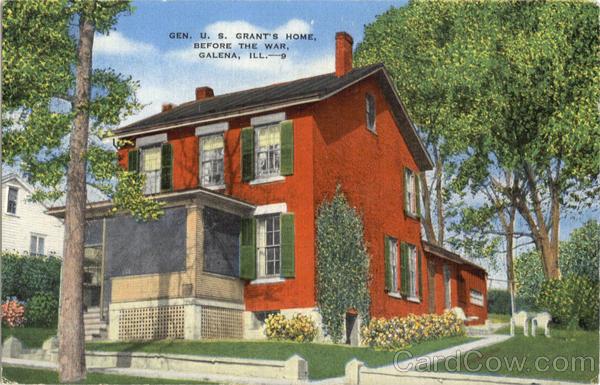 Gen. U.S. Grant's Home, Before The War Galena Illinois