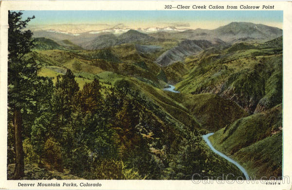 Clear Creek Canon From Colorow Point Denver Mountain Parks Colorado