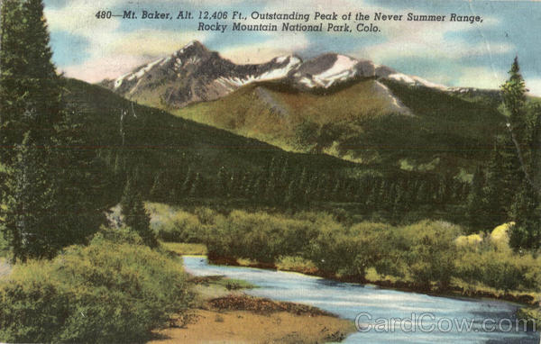 Outstanding Peak of the Never Summer Range Rocky Mountain National Park Colorado