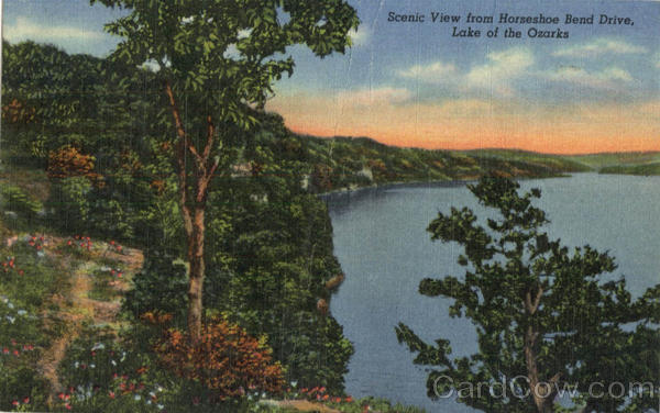 Scenic View from Horseshoe Bend Drive, Lake of the Ozarks Versailles Missouri