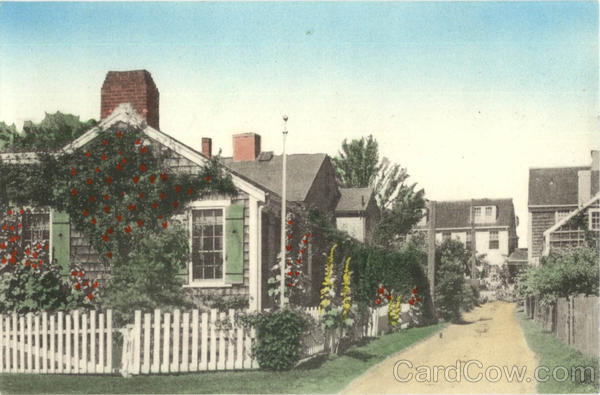 Starbuck Court Nantucket Hand Colored Massachusetts