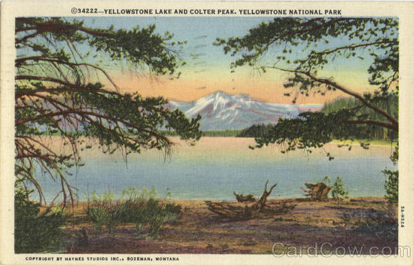 Yellowstone Lake And Colter Peak Yellowstone National Park Wyoming