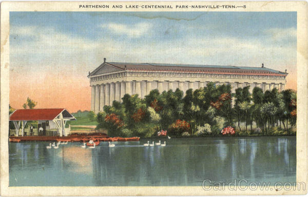 Parthenon and Lake, Centennial Park Nashville Tennessee