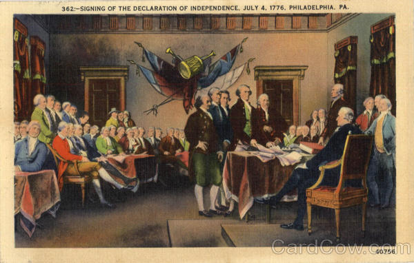 Signing of the declaration of independence Philadelphia Pennsylvania
